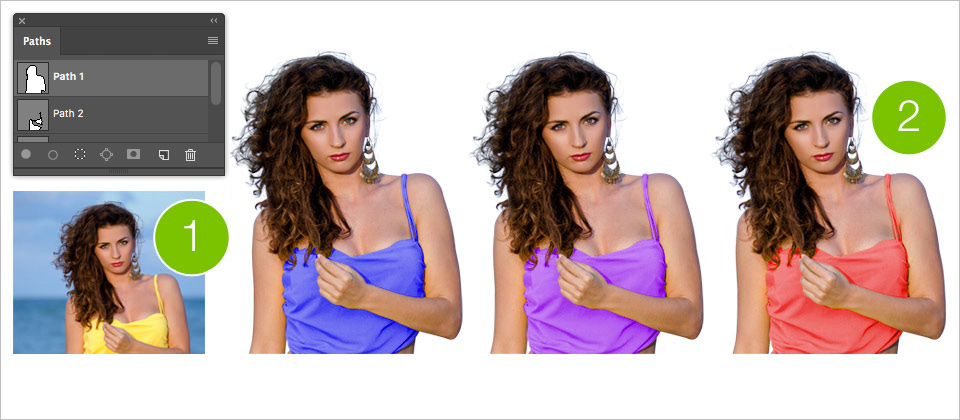 Image extraction and colour editing using the Image Masking & the Colour Adjustment service.